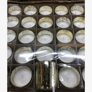 Candle 10HR Glass 25/box - Gold