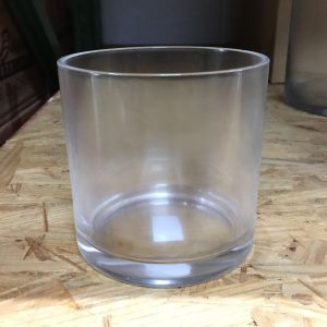 "Cylinder 5""Dia X 5""H Glass"